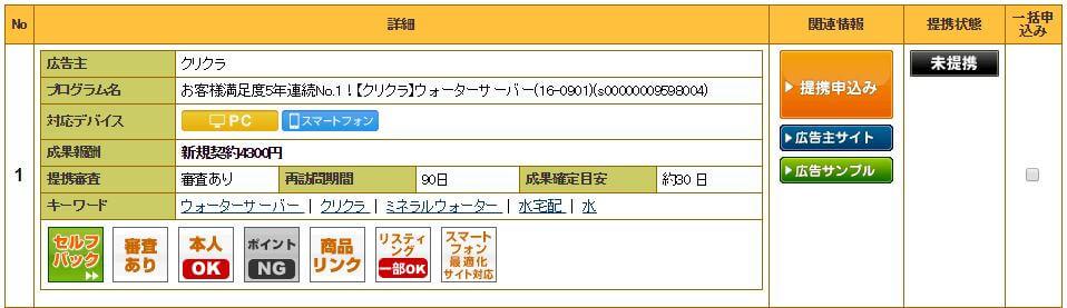 A8.netのクリクラ